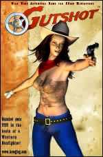 Gutshot Cowgirl Poster