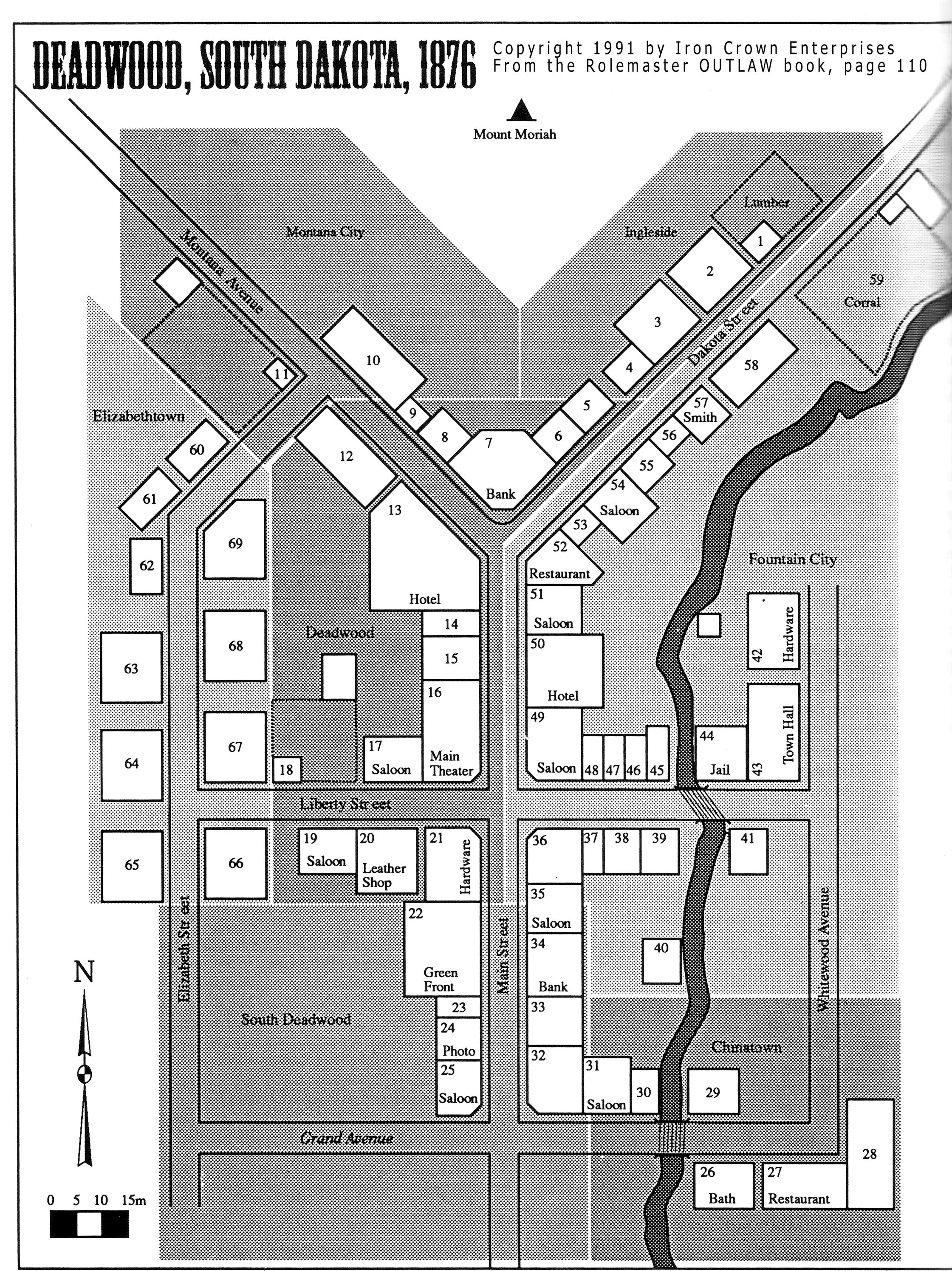 Deadwood and the Eames Residence: Deadwood map on